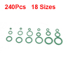 240PCS 18 Sizes HNBR Car Truck Air Conditioning A/C Seal O Rings Green