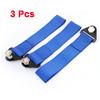 3 Pcs 27cm Long Adjustable Safety Car Seat Belt Clip Strap Blue 4.8cm Width