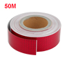 50M Silver Tone Adhesive Safety Reflective Sticker Decal Sign for Car Auto