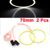 Car Auto 70mm Dia COB LED Angel Eyes Ring Light White 2 Pcs