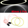 Car Auto 80mm Dia COB LED Angel Eyes Ring Light White 2 Pcs
