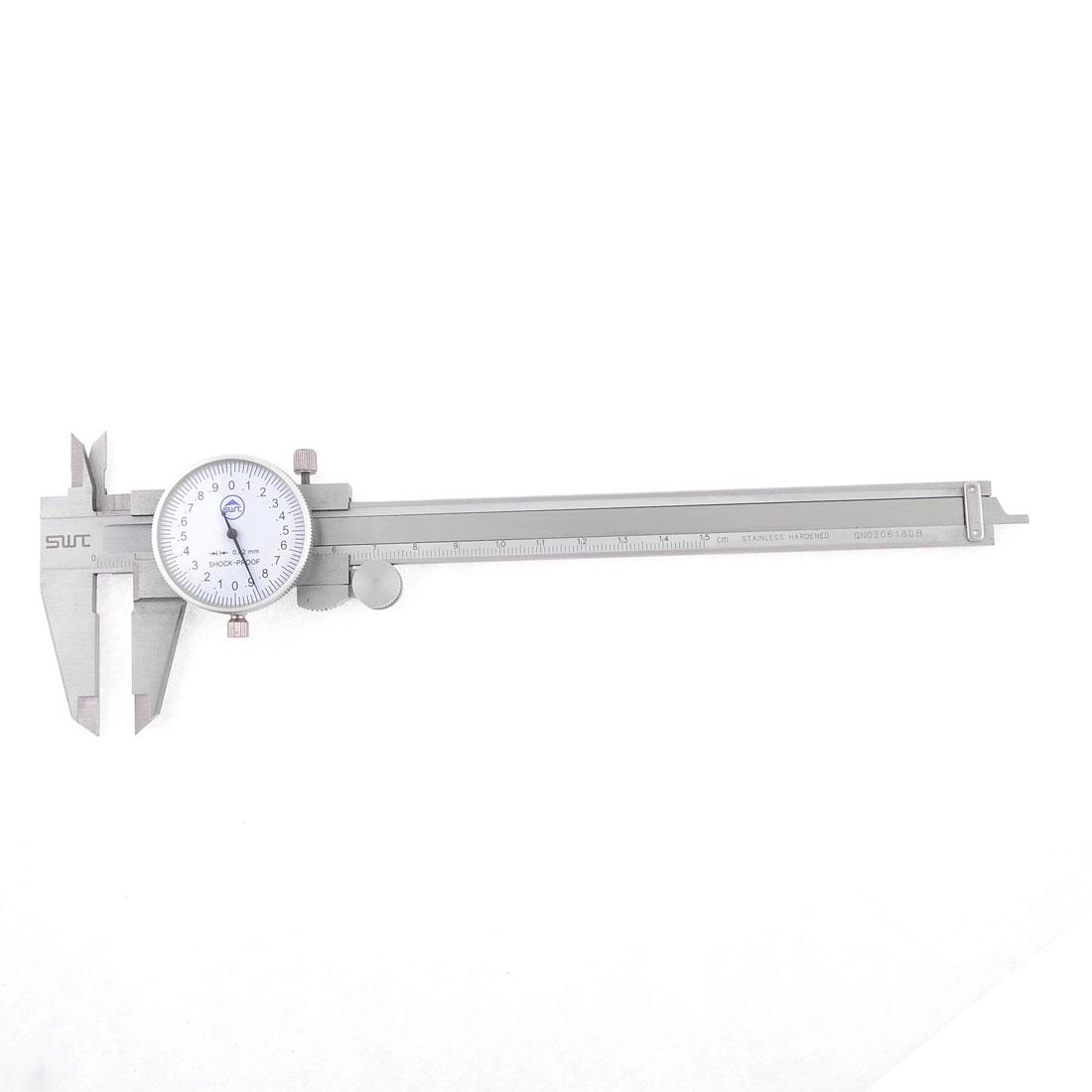 Stainless Steel Measurement Gauge Tool Dial Vernier Caliper 150mm 0.02mm