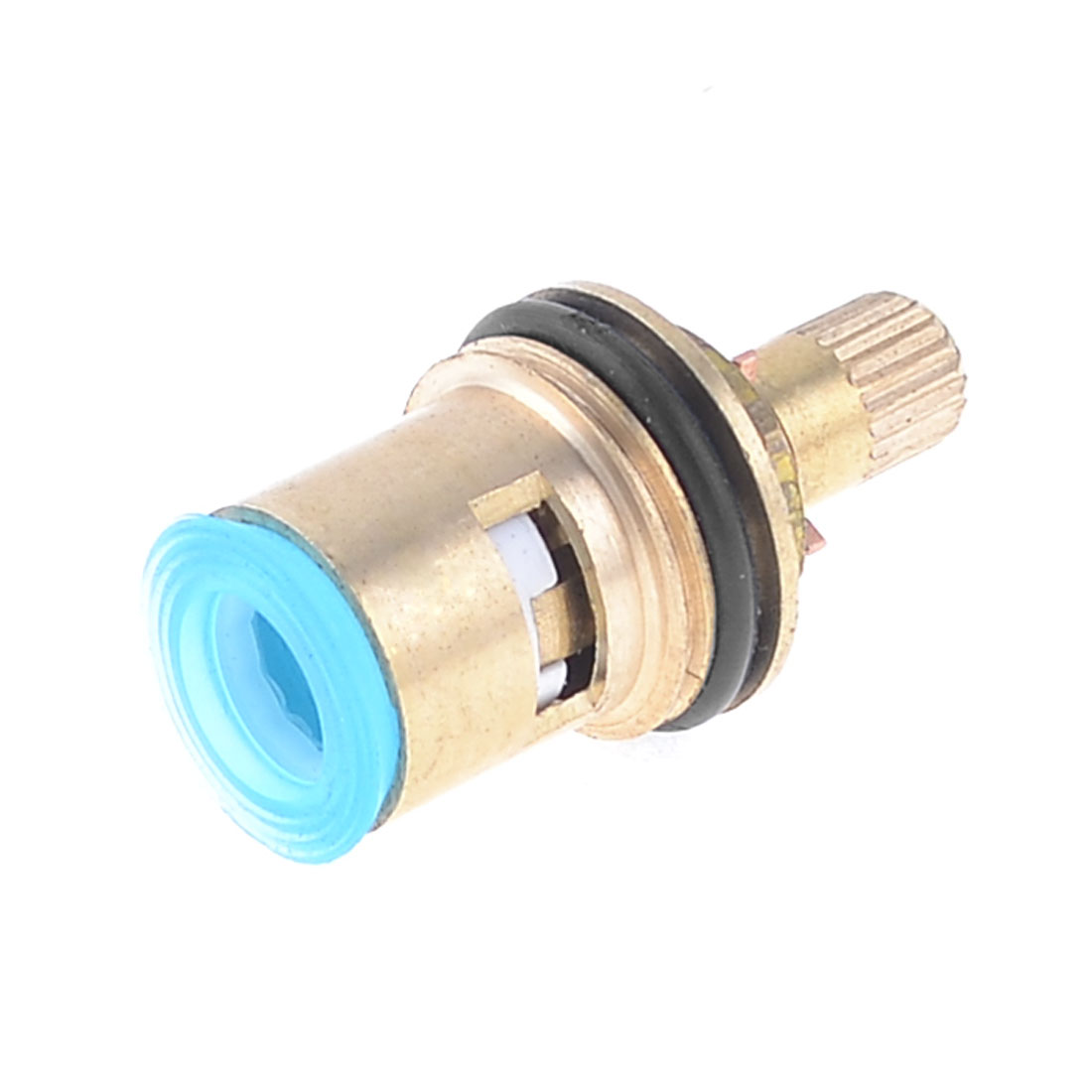 Gold Tone Brass Faucet Ceramic Cartridge Disc Valve Core Spool Stem 17x8mm