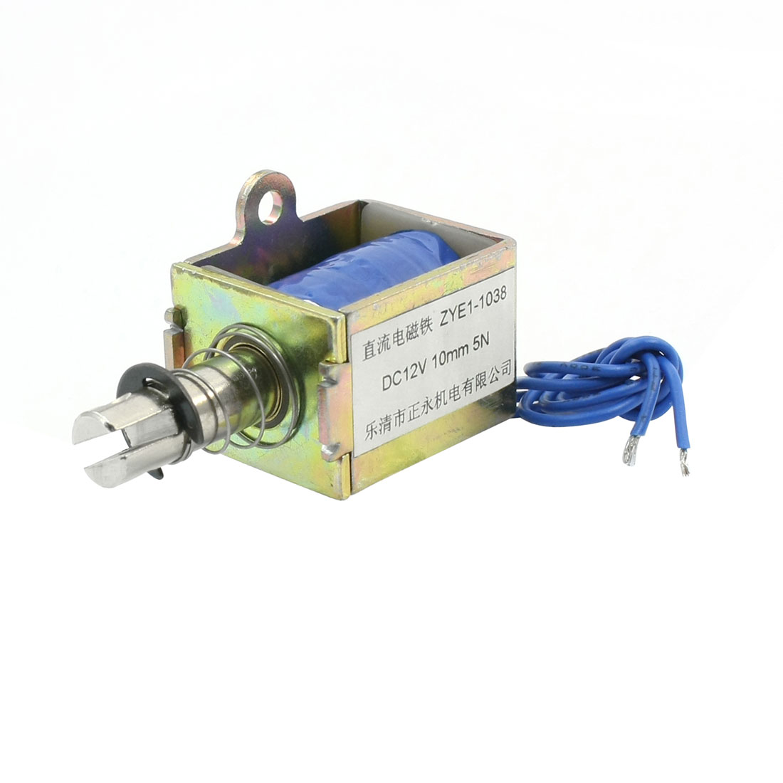 12Volt 5N Force Push Pull Type Open Frame DC Electric Solenoid ZYE1-1038