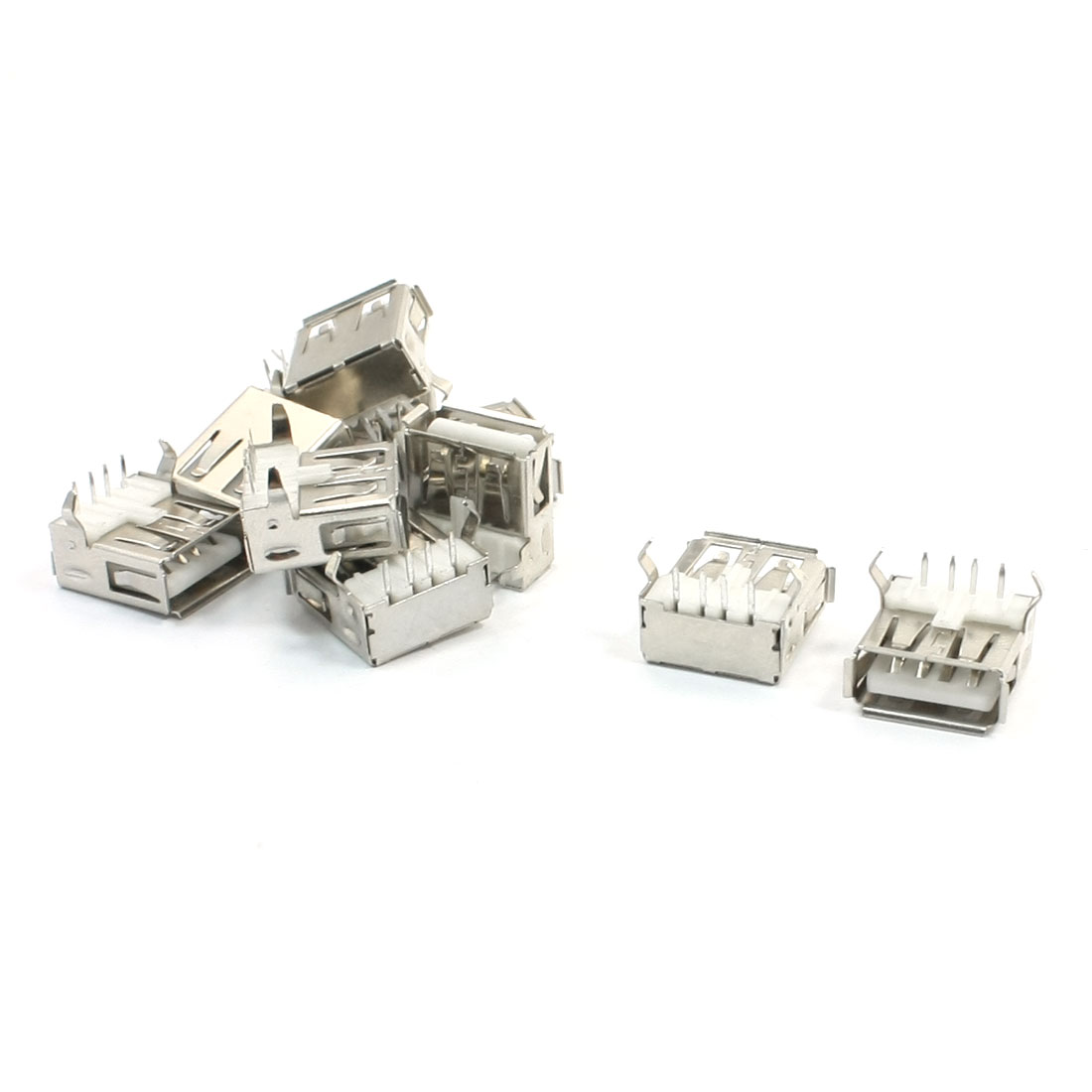 10pcs Shielded Right Angle 4-Pin DIP Female USB 2.0 A Jack Socket Port