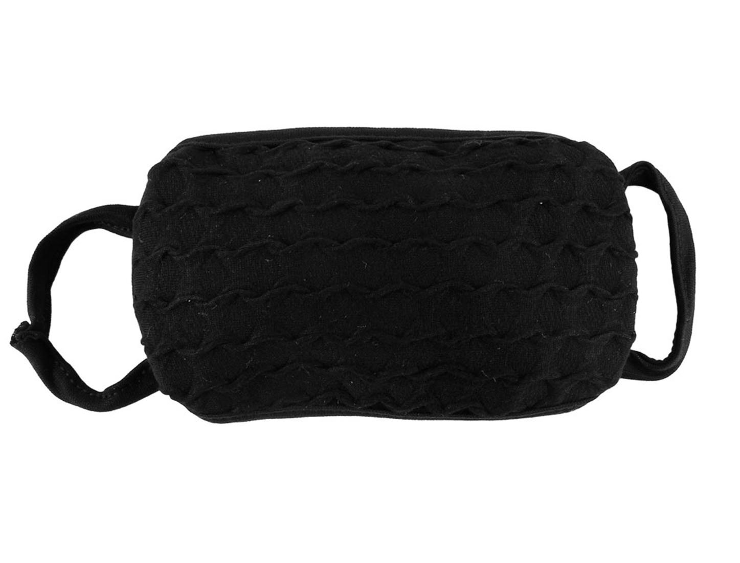 Unisex Black Winter Outdoor Dust Proof Stretchy Ear Strap Earloop Face Mask