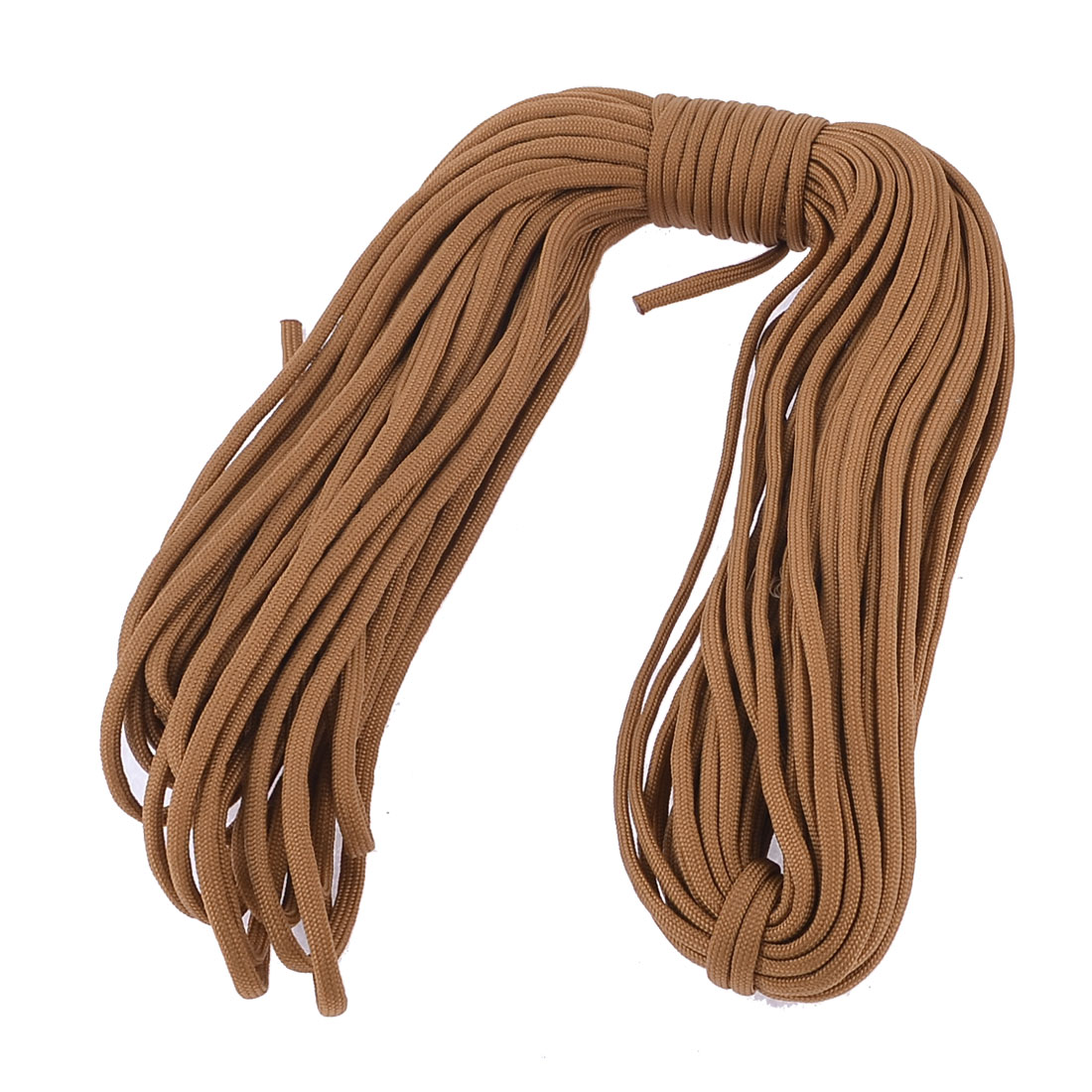 Outdoor Brown Nylon Game Survival Parachute Rope Cord 30M