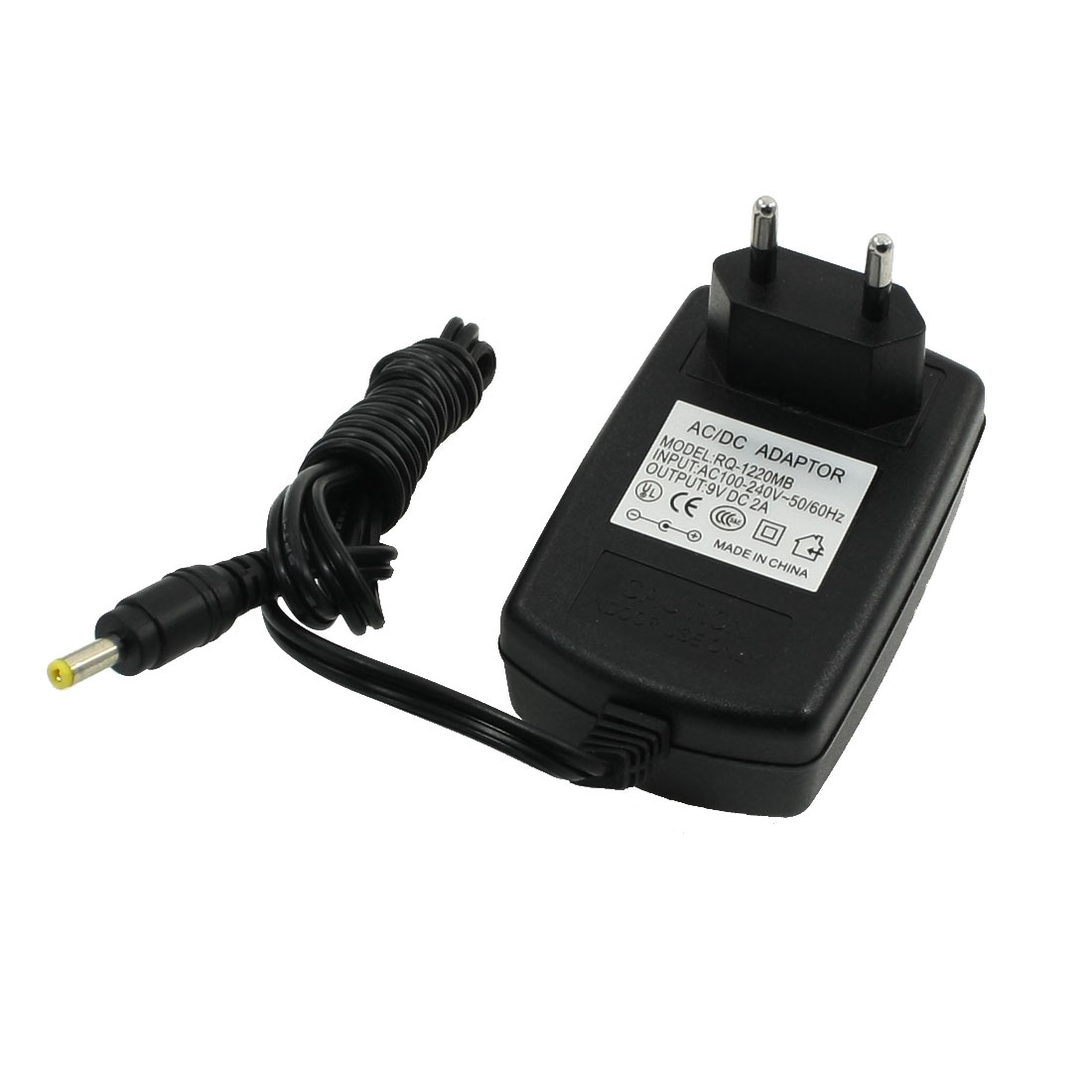 EU Plug 100-240VAC to 4.0x1.7mm 9VDC 2A AC/DC Power Adapter Converter