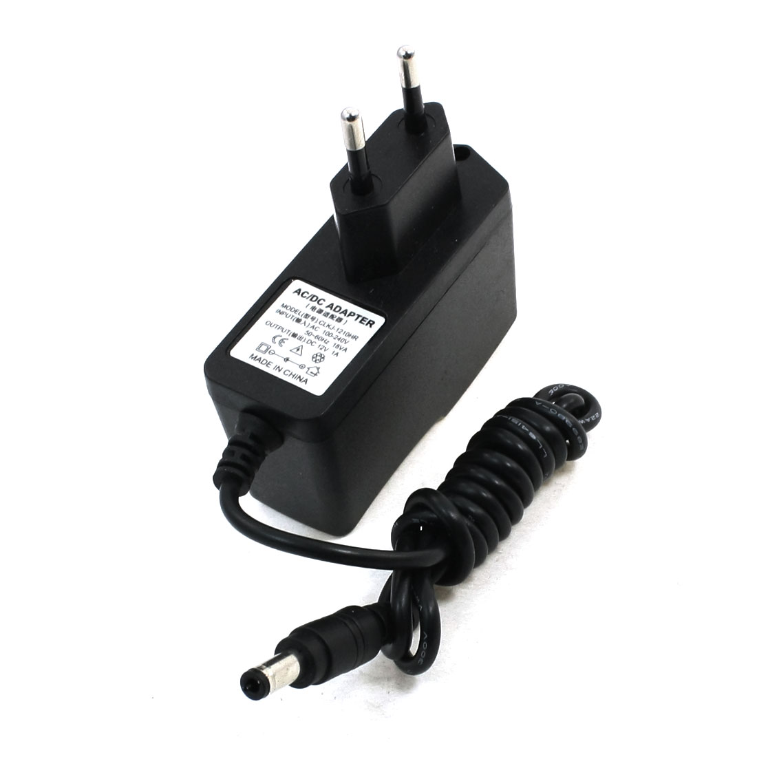 100-240V 12V 1A AC/DC Converter Adapter Power Charger 5.5x2.5mm EU Plug