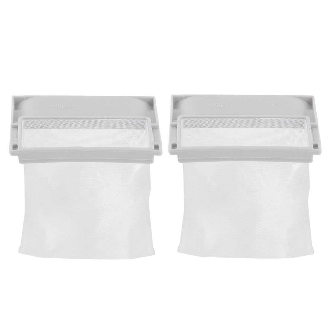 2 Pcs Plastic Shell Nylon Mesh Filter Bag for Haier Panasonic Washing Machine