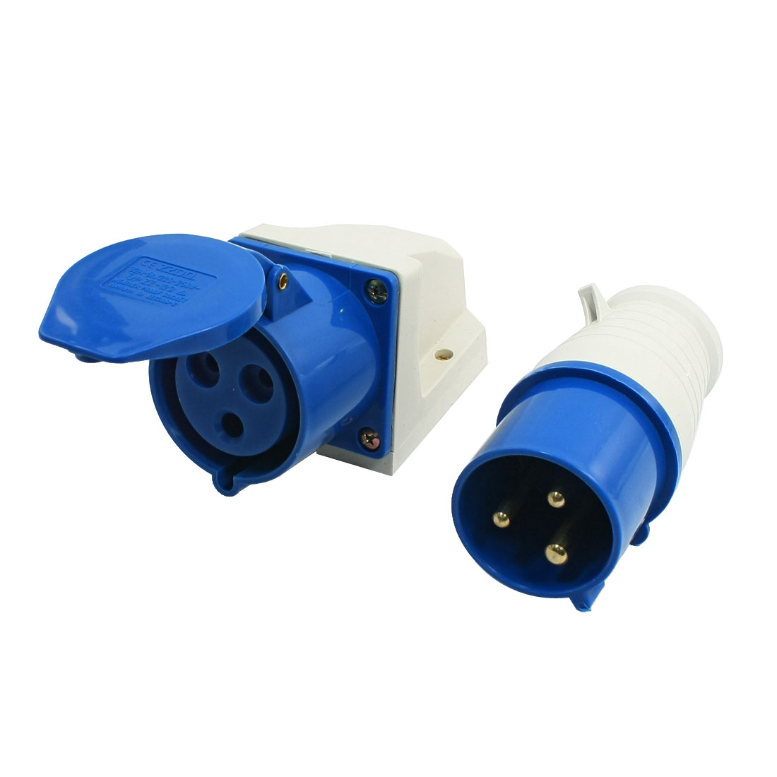 2P+E 16A 220-250 Volt 3 Pole Connector with Coupler Waterproof Trailing Socket