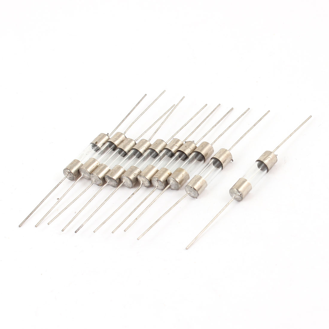 Axial Lead Fast Acting 5mm x 20mm Glass Fuse Tube 250V 15A 10 Pcs