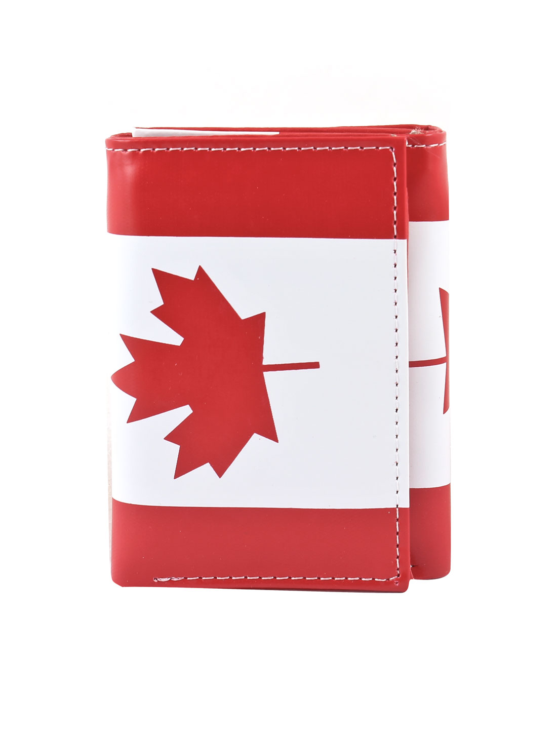 Canada Flag Pattern Three Pockets Coins Bank Credit Cards Purse Holder