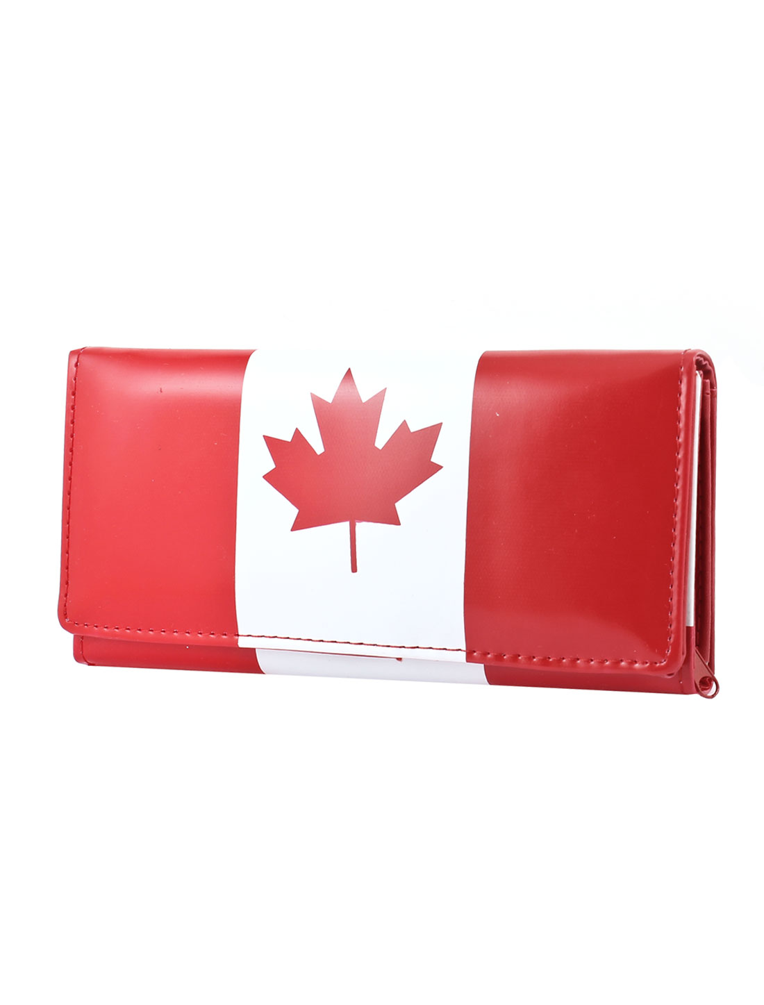 Canada Flag Pattern 5 Pockets Coins Bank Credit Cards Purse Holder
