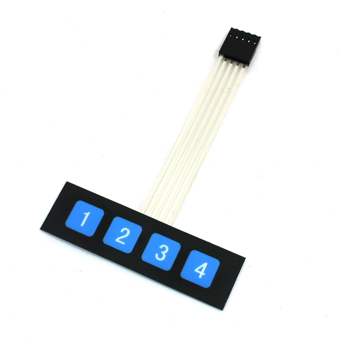 1x4 4 Blue Key Matrix Membrane Switch Plastic Keypad Keyboard