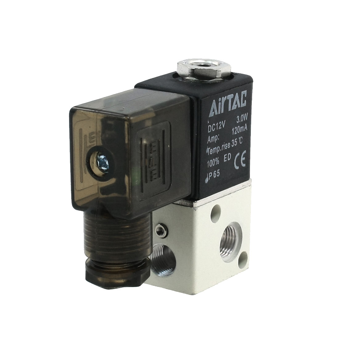 DC 12V 120mA 3W Pneumatic Components Air Solenoid Valve Coil Black