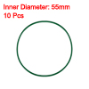 10 Pcs 60mm Outside Diameter Rubber O Ring Oil Seal Gaskets Green