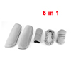 5 in 1 Gray Nylon Gear Shift Knob Rearview Mirror Hand Brake Seatbelt Cover for Car