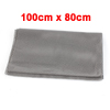Gray Foam Embossed Grid Toolbox Case Non Slip Mat Pad Cusion 80x100cm for Car