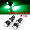 2 Pcs Car Green T10 W5W 5050 SMD 5 LED Projector Len Corner Signal Lights 12V