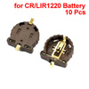 10 Pcs Surface Mount Button Cell Battery Holder for CR1220 LIR1220
