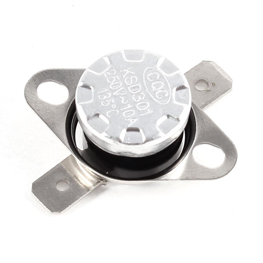 KSD301 AC 250V 10A 135C Celsius NC Temperature Control Switch Thermostat