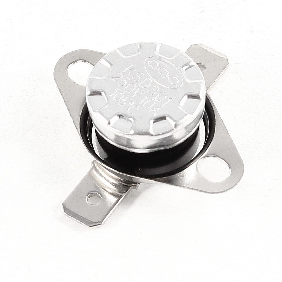 KSD301 AC 250V 10A 105C Celsius NC Temperature Control Switch Thermostat