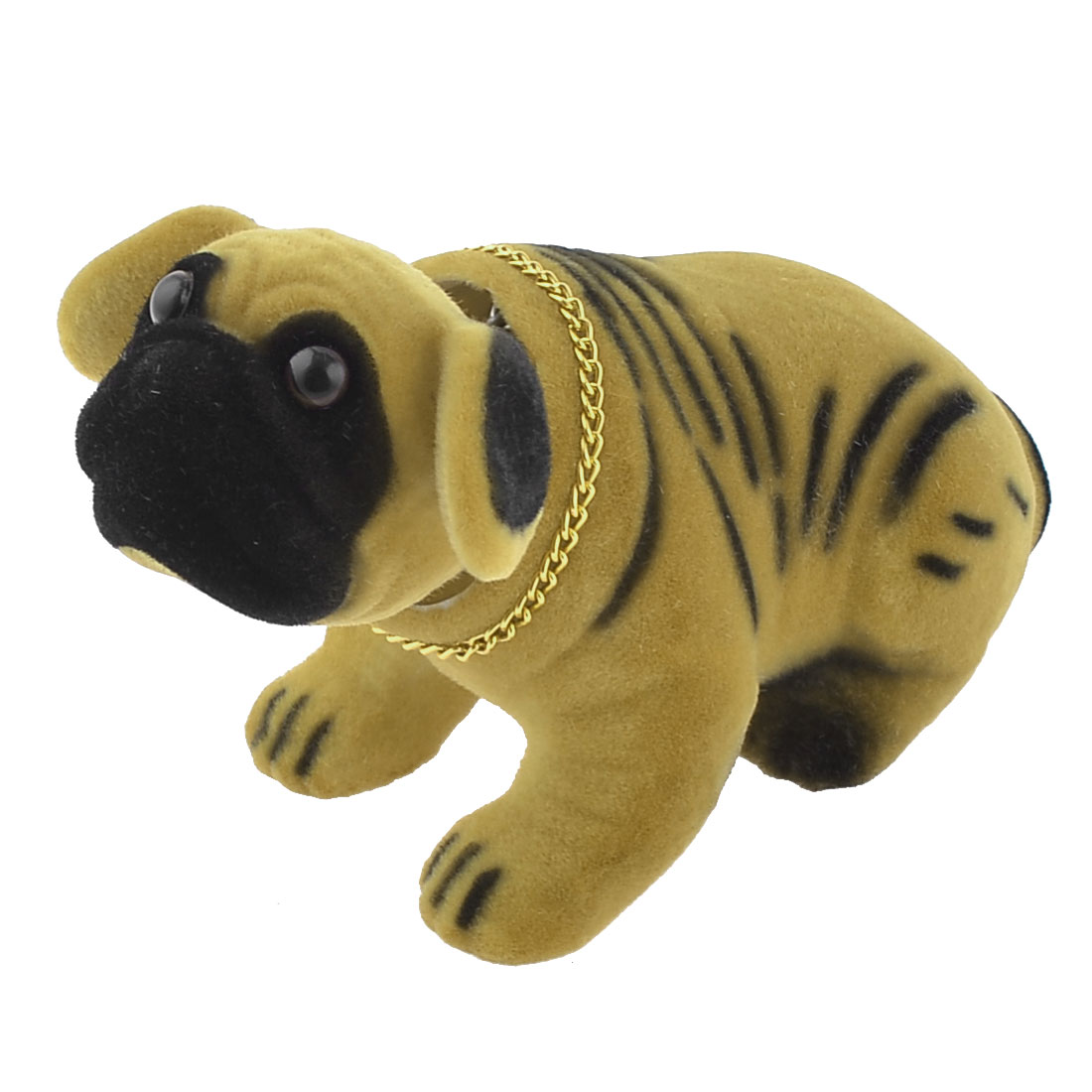 Yellow Black Shaking Head Nodding Shar Pei Dog Decoration for Car