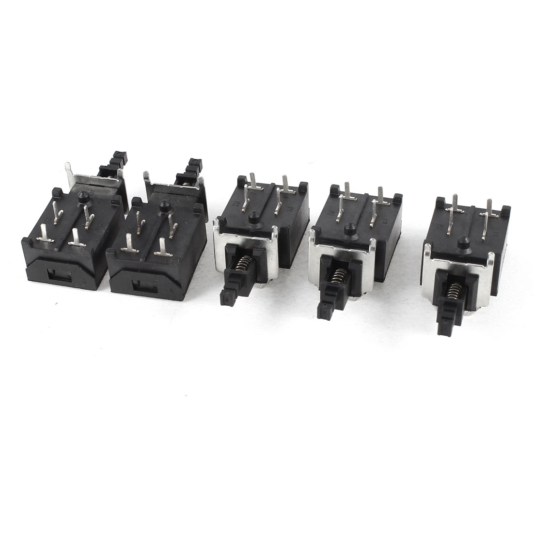 5 x AC 250V 4A 4 Pin 4P SPDT Latching Push Button Power Switch Lock KDC-A16