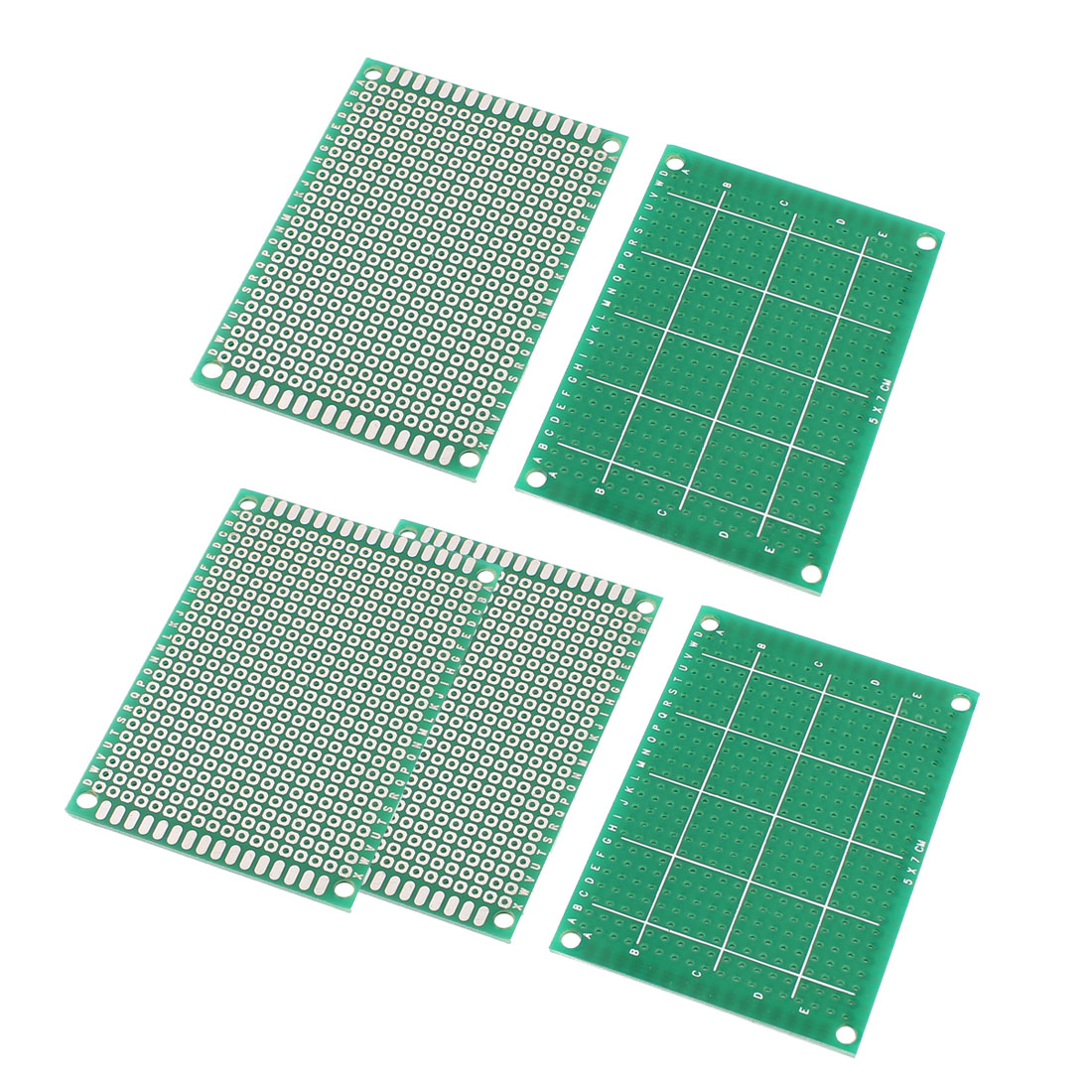 5 Pcs 2.54mm Hole Pitch One Side Tin Plated Universal PCB Board 5cm x 7cm