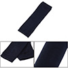 Unisex Textured Elastic Fingerless Acrylic Elbow Length Gloves Navy Blue Pair