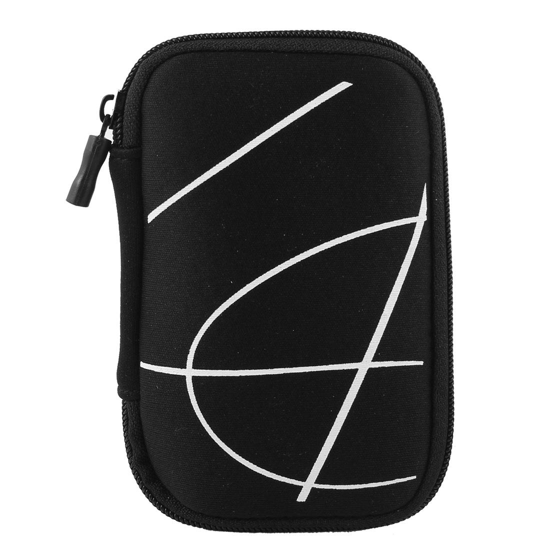 "Black Protective Case Bag Pouch Zipper Closure for 2.5"" Hard Disk Drive"