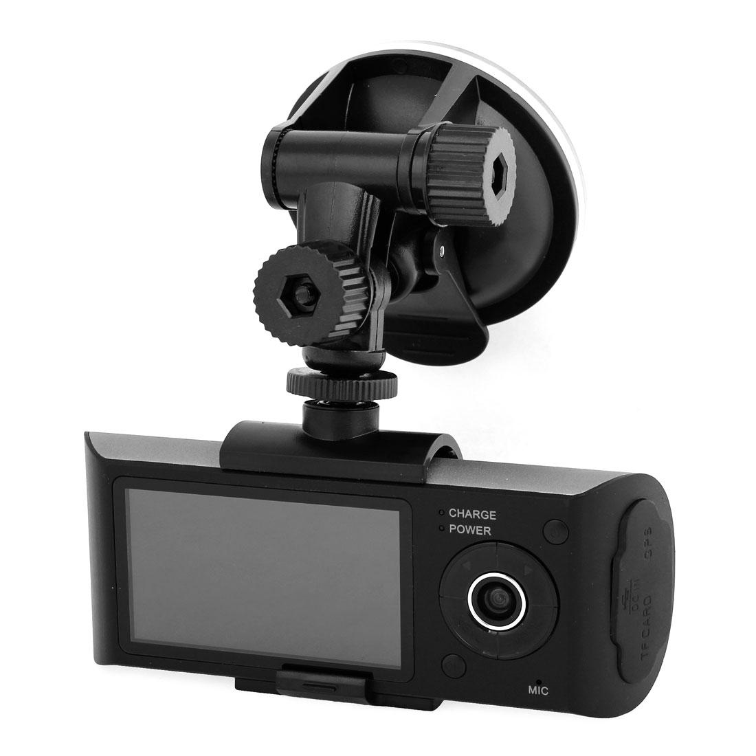 "2.7"" TFT LCD 16:9 Wide Screen Dual Lens Car DVR Camcorder GPS Recorder"