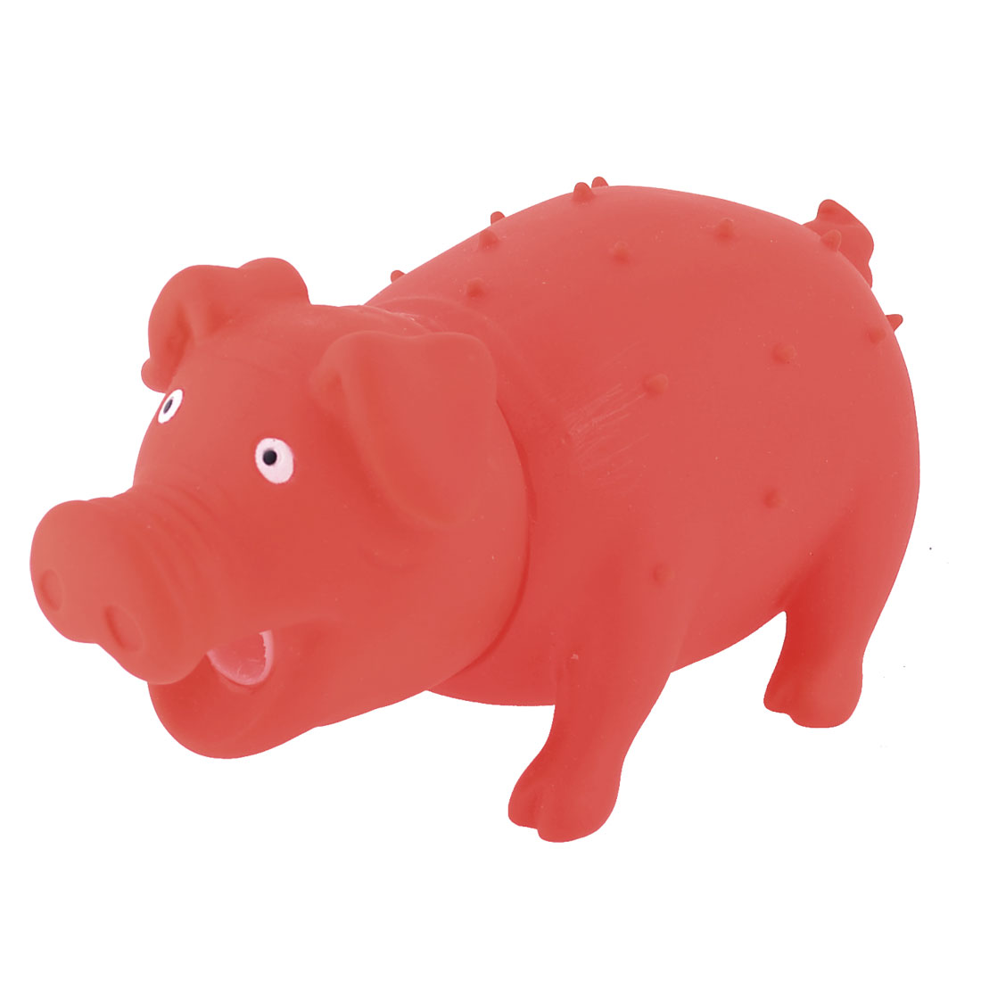 Pet Dog Doggy Puppy Red Pig Style Sounding Chew Squeaky Squeeze Toy