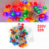 EU Plug Colorful Lantern 60 LED Christmas Wedding String Tree Lights 220VAC
