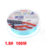 1.5# 0.2mm 7.5Kg 16.5Lbs Cyan Nylon Freshwater Fishing Line Spool 100 Meters