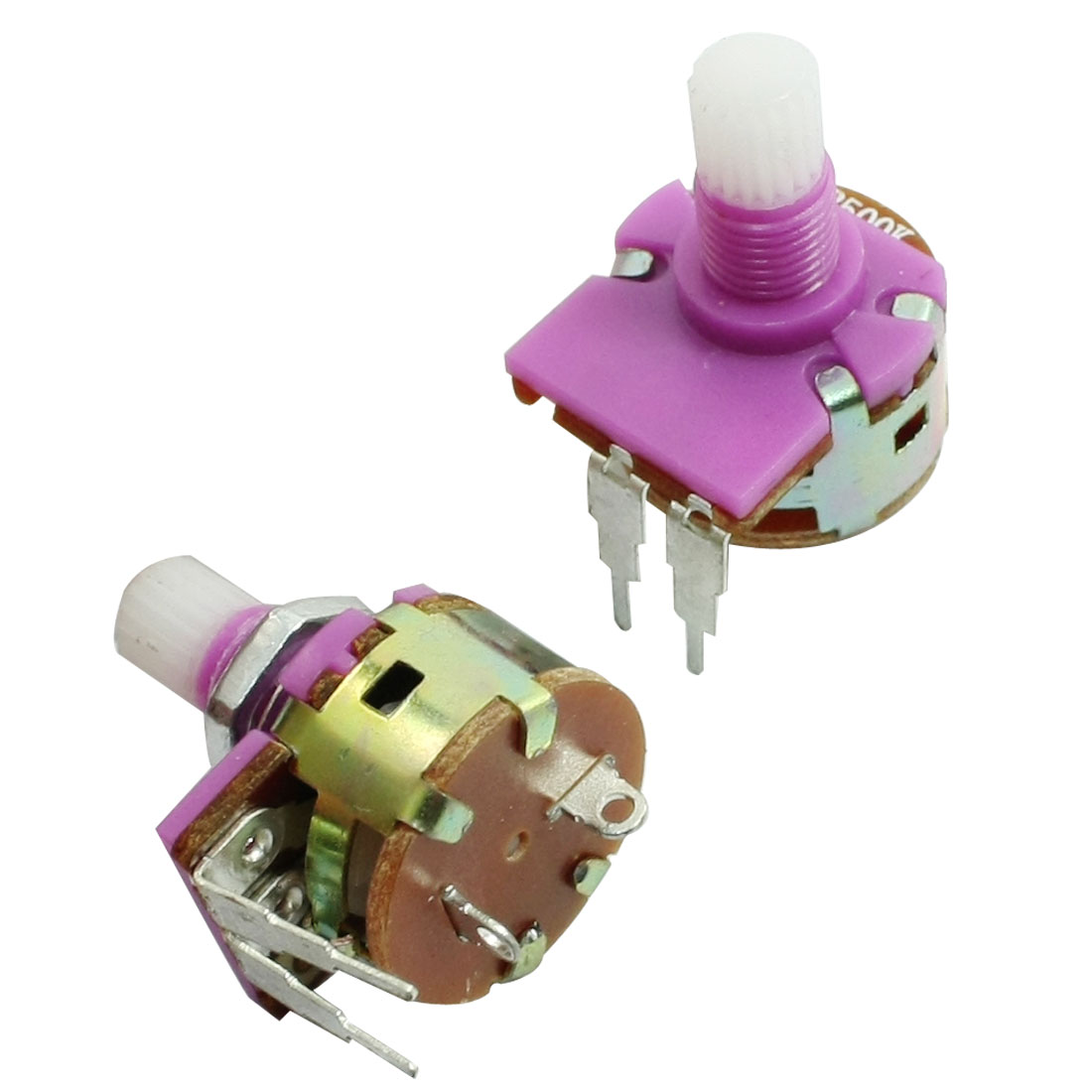 2pcs B500K 500K ohm 6mm Knurled Shaft Dia Rotary Potentiometer Pot