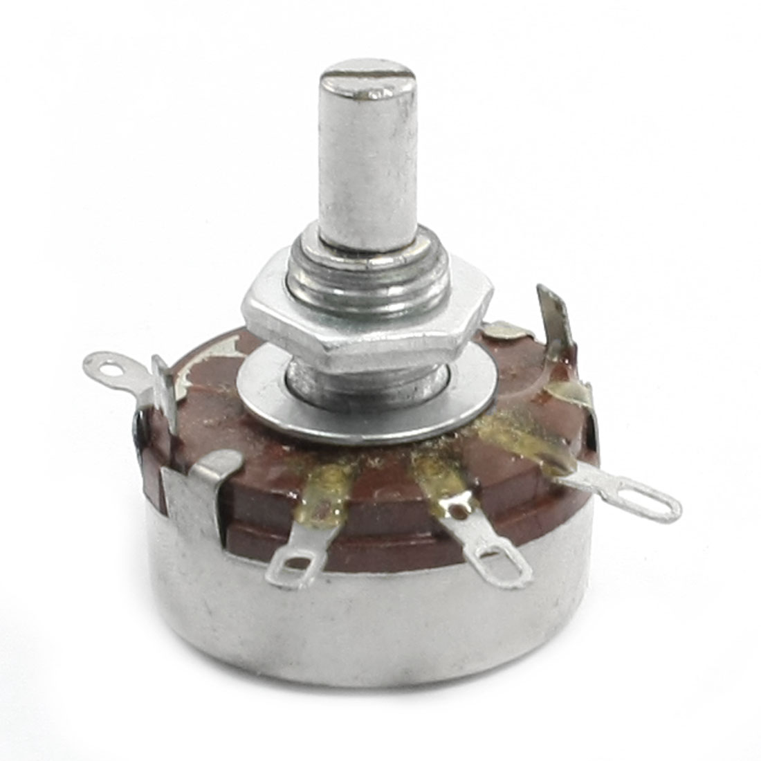 100K ohm 2W 6mm Round Shaft Rotary Taper Carbon Potentiometer WH118-1A