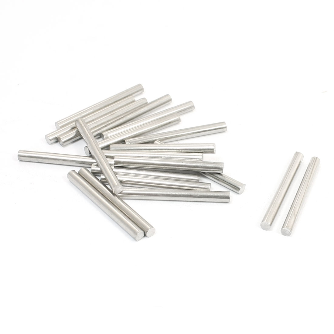20Pcs Stainless Steel 30mm x 3mm Round Rod Stock for RC Airplane Model