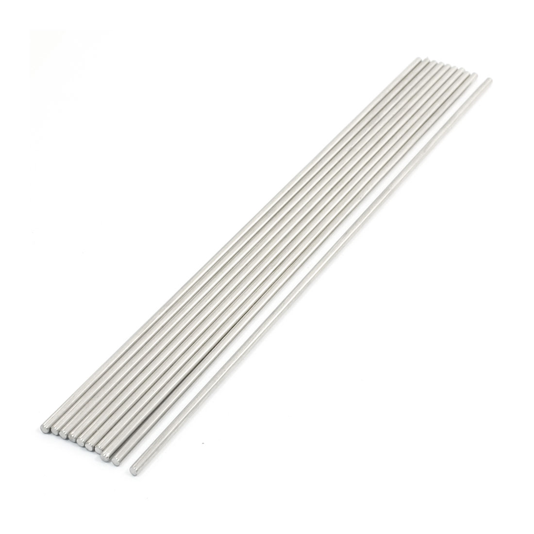 10Pcs Stainless Steel 200mm x 2.5mm Round Rod Stock for RC Airplane Model
