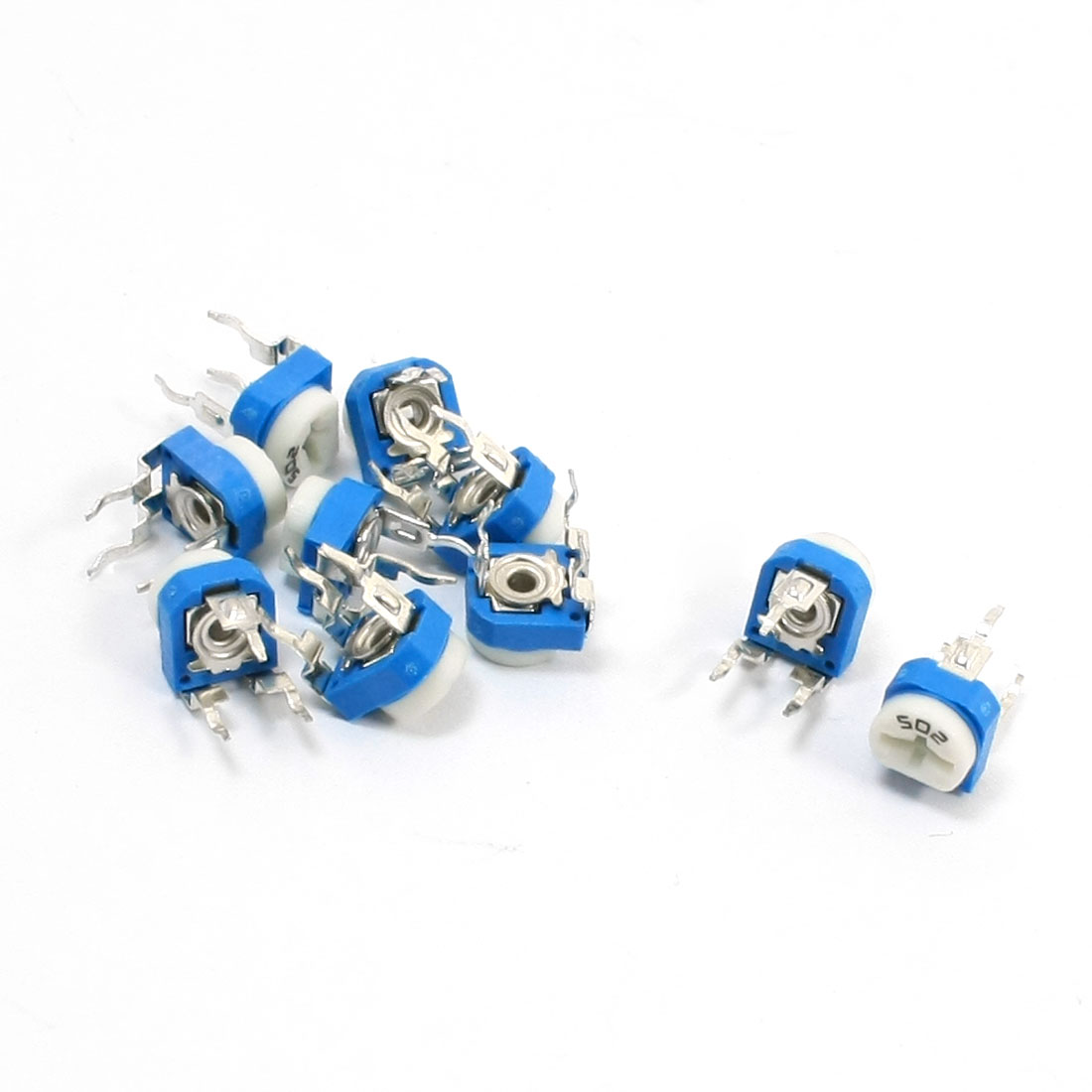 10Pcs 5K Ohm Single Turn Potentiometer Pot Rotary Variable Resistor