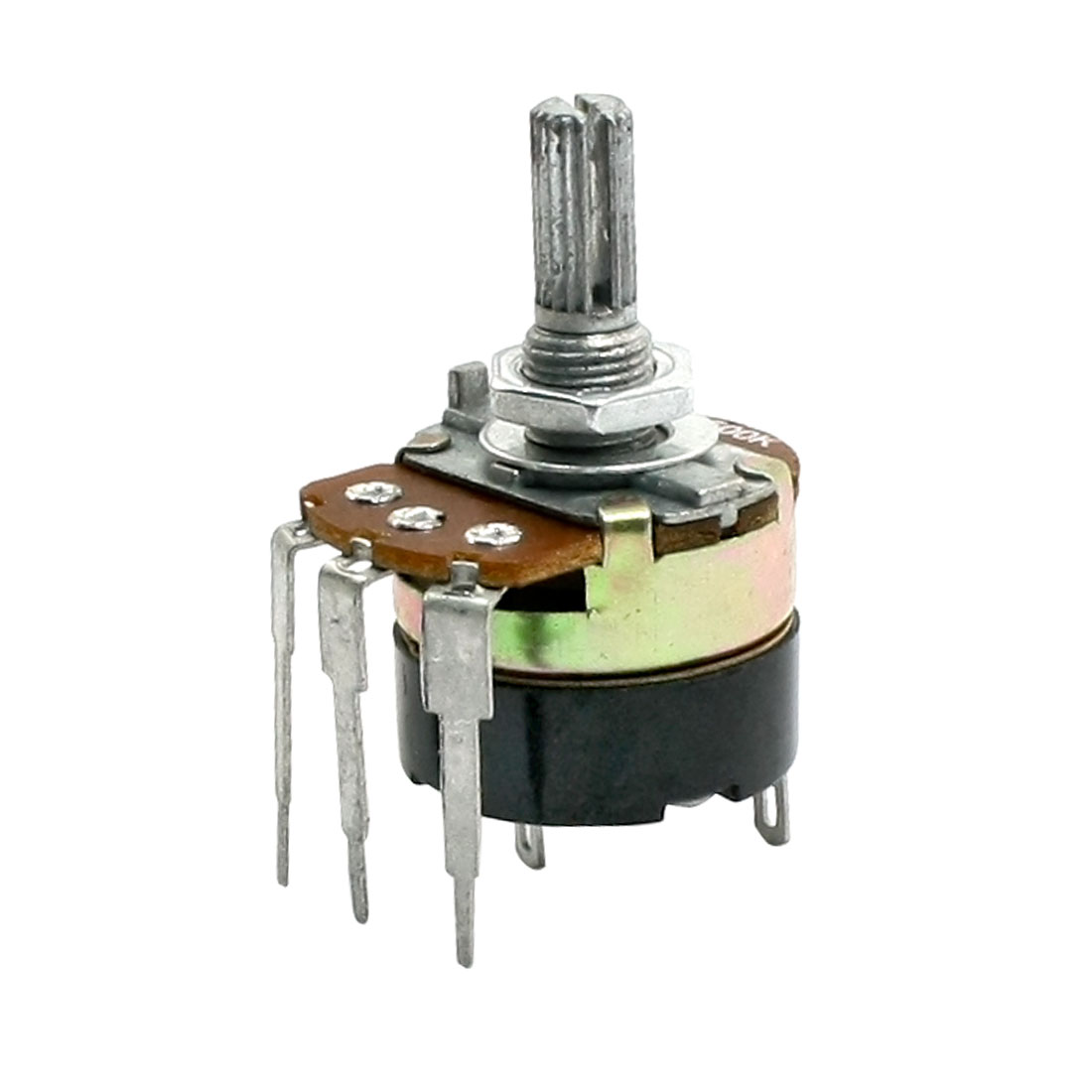 Type B 500K Ohm Single Turn Switch Carbon Variable Potentiometer