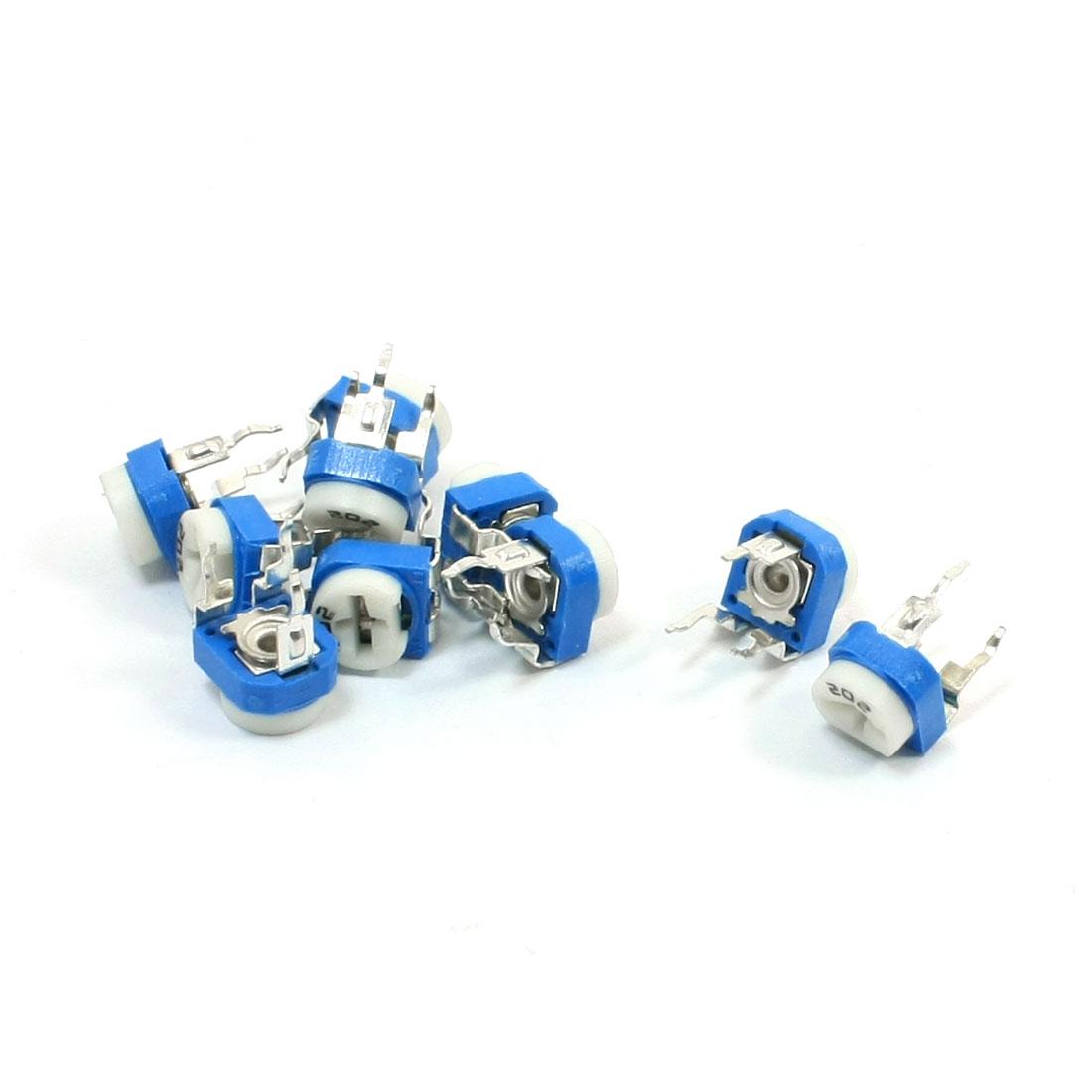 10Pcs DIP Cermet Trimmer Potentiometer Variable Resistor 2K Ohm WH06-2