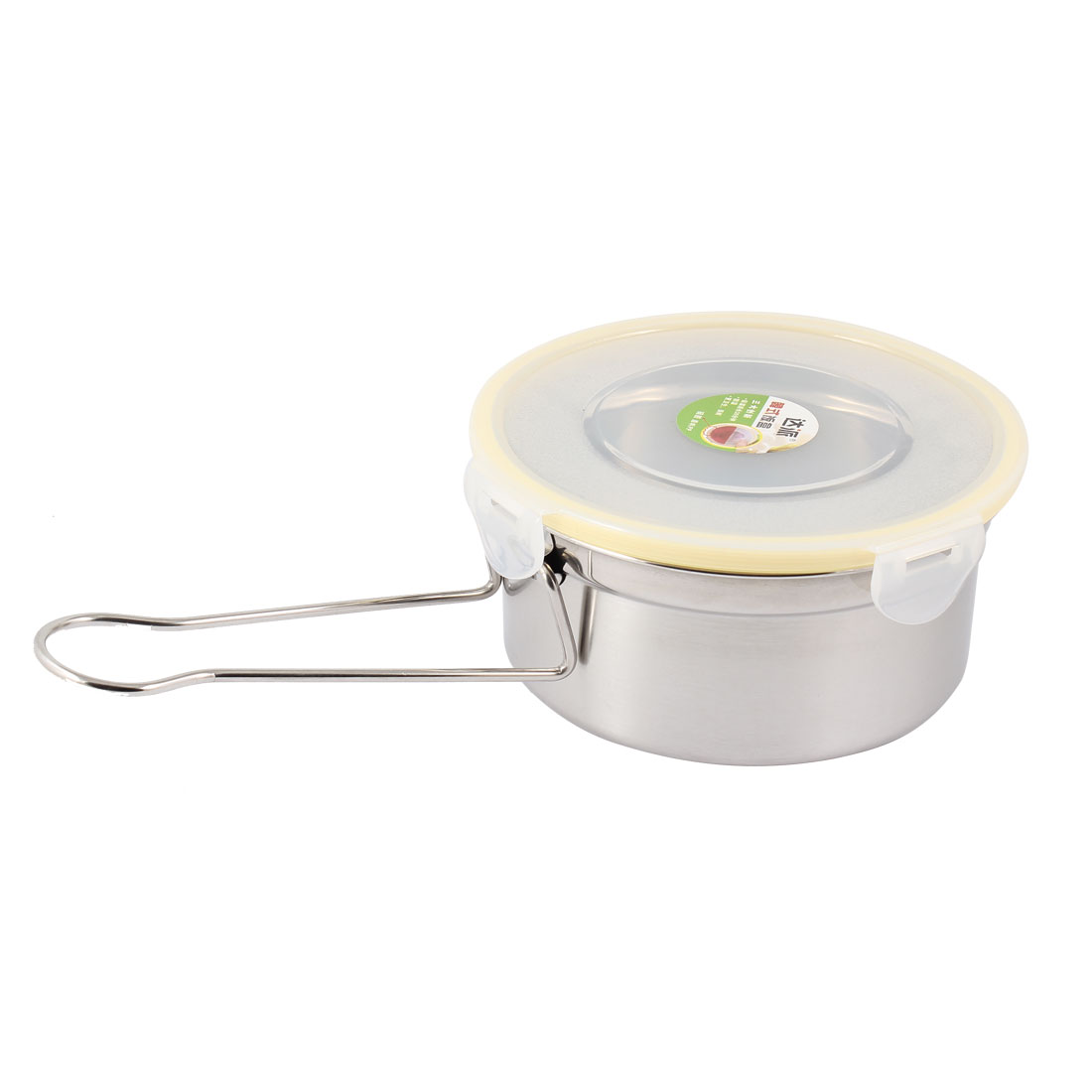 Plastic Cover Rubber Seal Removable Handle Stainless Steel Lunch Box