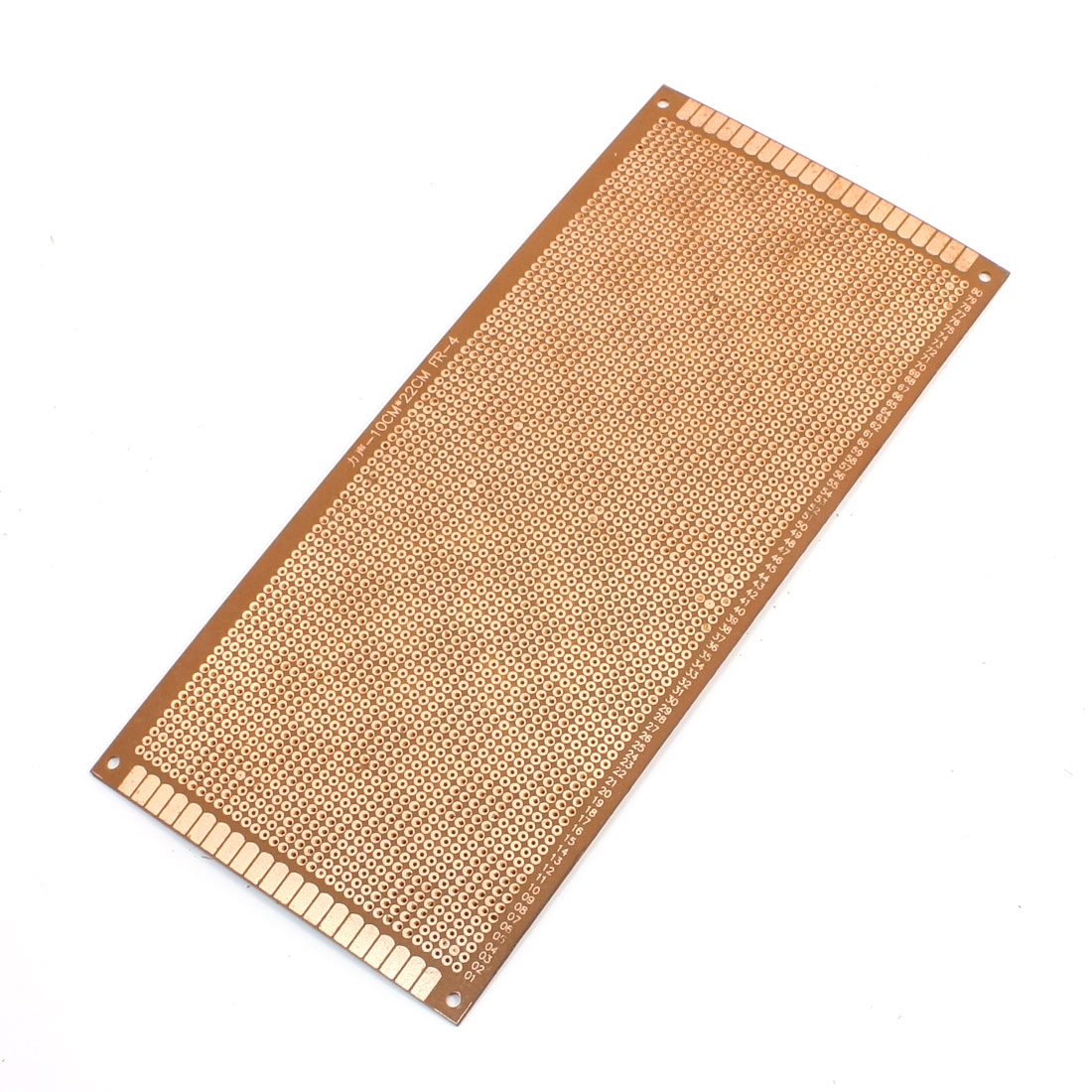 2.54mm Pitch PCB Board Prototype Breadboard Single Side 100mm x 220mm Brown