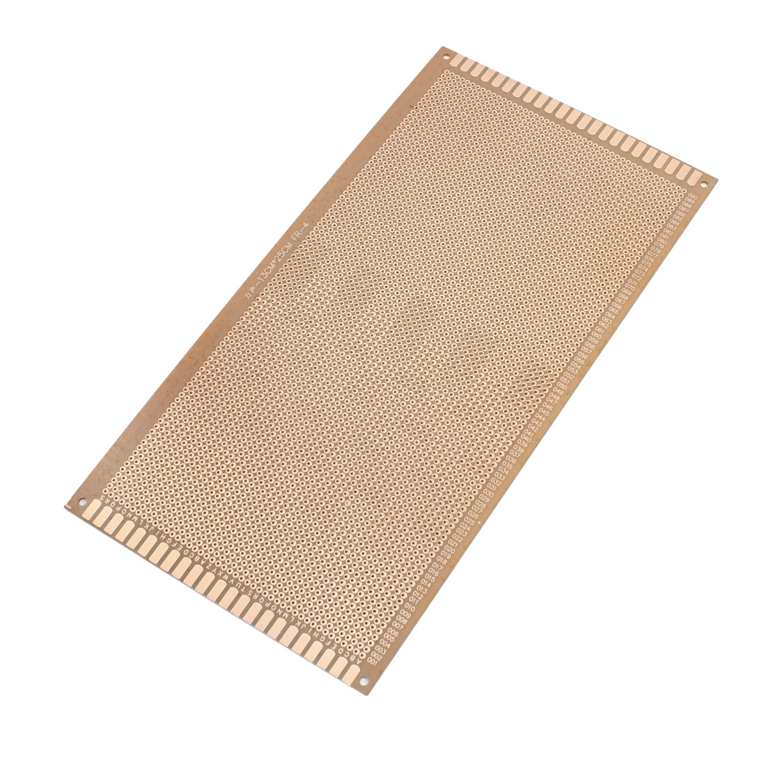 130x250mm Single Side Copper Coated Brown Printed Circuit Board Stripboard