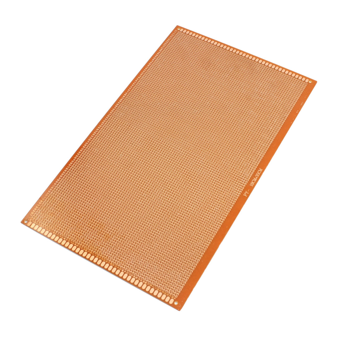 2.54mm Pitch PCB Board Prototype Breadboard Single Side 180mm x 300mm Brown