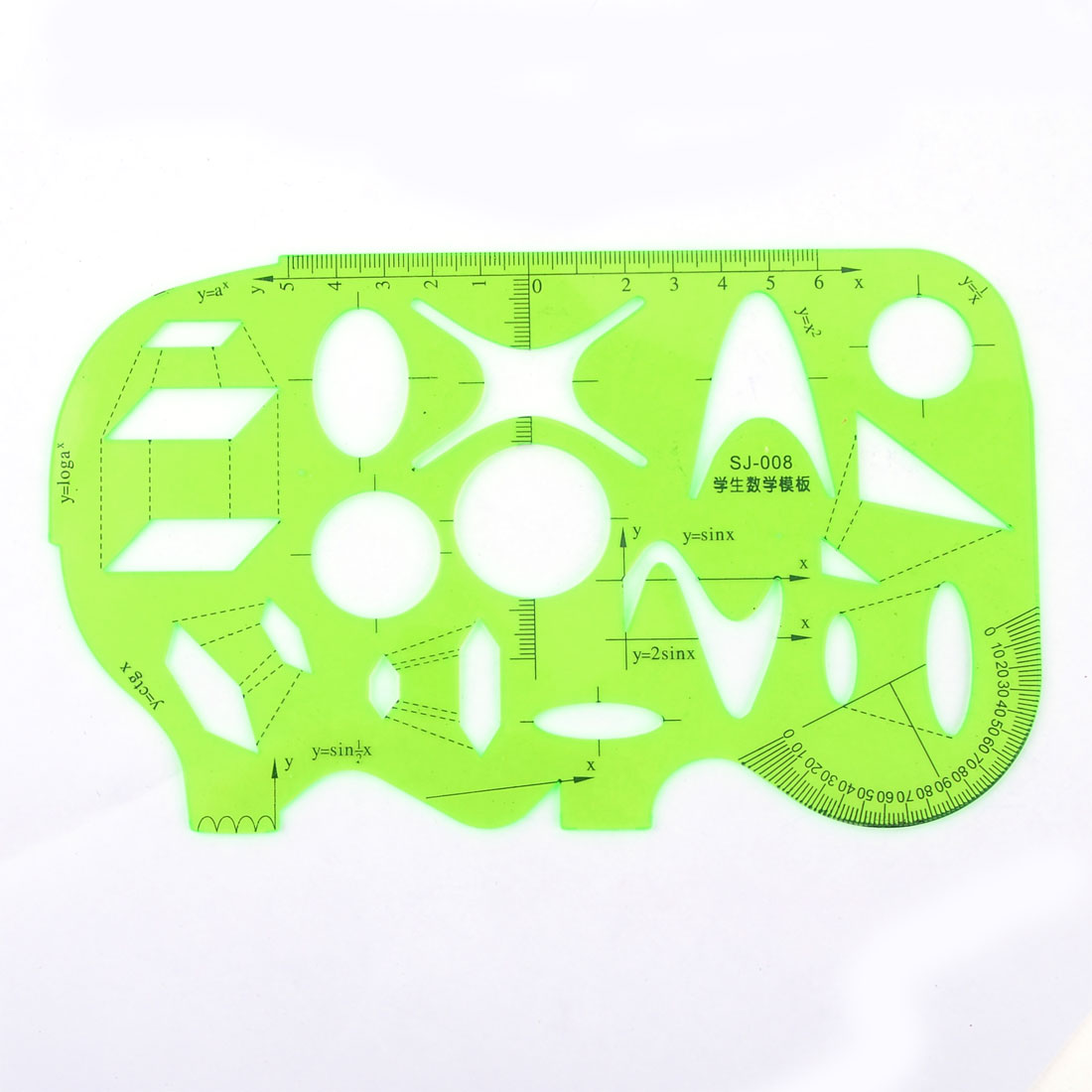 Educational Clear Green Learning Drawing Measuring Template Ruler