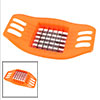 Home Kitchen Bright Orange Grip Stainless Steel Cutter Potato Slicer