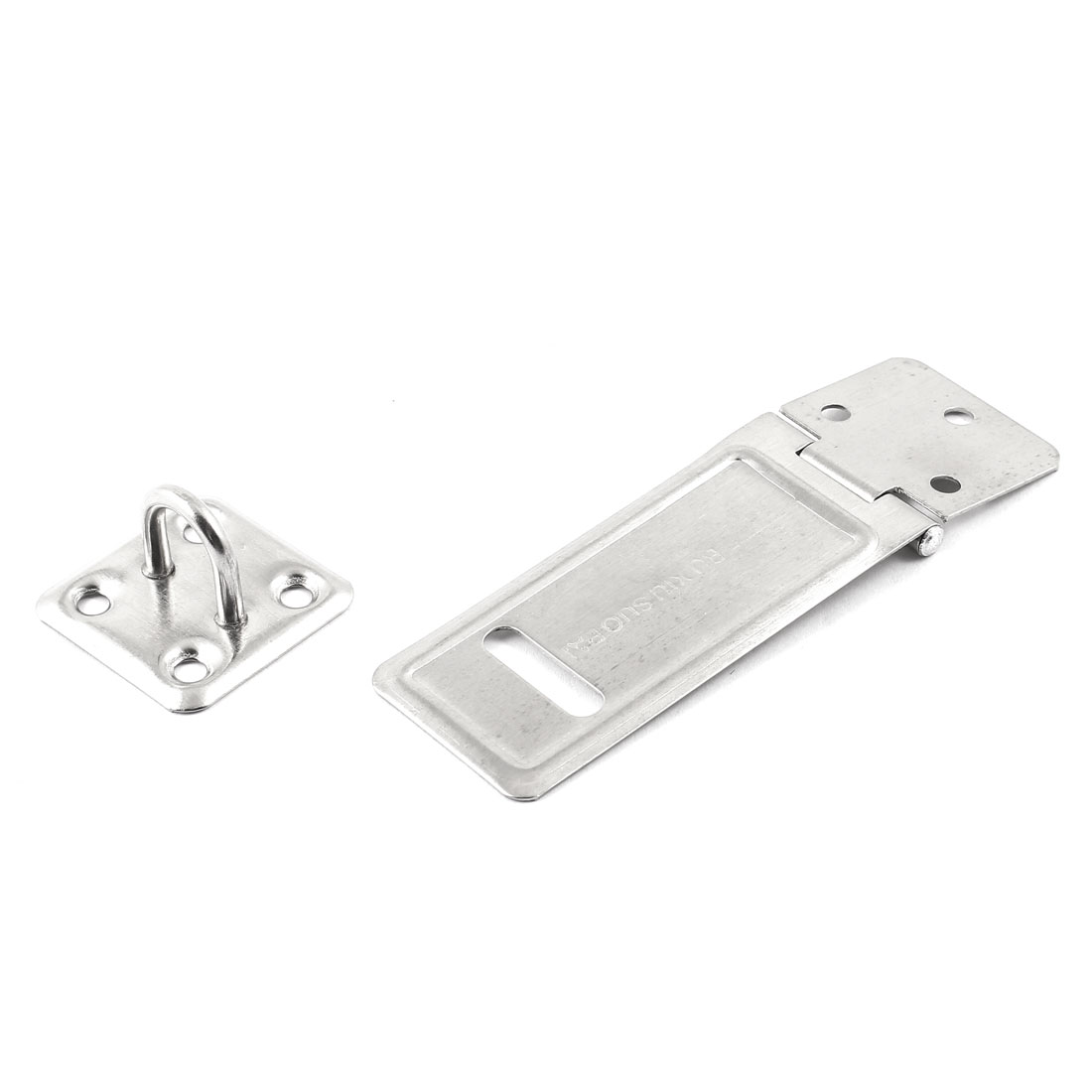 Cabinet Cupboard Stainless Steel Padlock Hasp Staple Set